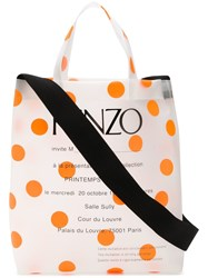 Kenzo Invitation Tote Bag White