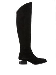Alexander Wang Sigrid Cut Out Suede Knee Length Boots