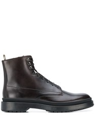 Hugo Boss Leather Ankle Boots Brown