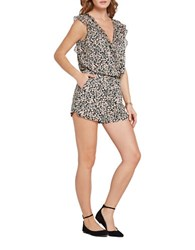 Bcbgeneration Ruffled Flower Field Blouson Romper Seacoral
