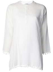 Dosa 'Tassel Kurta' Top White