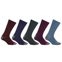 John Lewis Fashion Heel And Toe Socks Pack Of 5 Multi