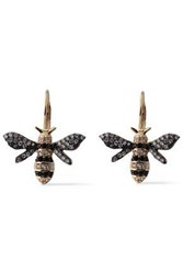 Cz By Kenneth Jay Lane Woman Gold Tone Crystal Earrings Gold