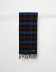 Lyle And Scott Tartan Scarf Red