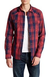 Mavi America Sportswear Long Sleeve Check Fitted Shirt Red