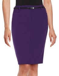 Calvin Klein Petite Belted Pencil Skirt Night