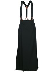 Jean Paul Gaultier Vintage Suspenders Skirt Trousers Black