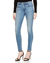 T By Alexander Wang Whip Skinny Jeans In Washed Light Indigo