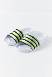 Urban Outfitters Uo Striped Pool Slide Blue Yellow