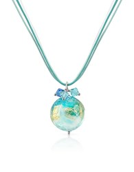House Of Murano Mare Turquoise Glass Pendant W Lace