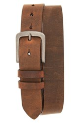 Torino Belts Men's Big And Tall Distressed Waxed Harness Leather Belt Brown