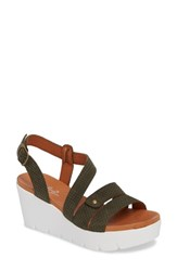 Bos. And Co. Sierra Platform Wedge Sandal Mint Leather
