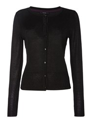 Therapy Metallic Cardigan Black