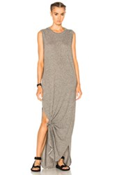The Great Sleeveless Knotted Dress In Gray