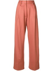 Forte Forte High Waisted Trousers Pink And Purple
