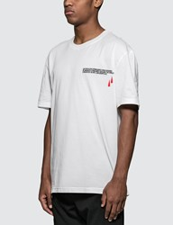 Calvin Klein 205W39nyc Blood Drop Logo Print S S T Shirt In White