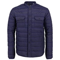 Lords Of Harlech Mao Packable Down Jacket In Navy Blue
