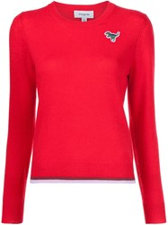 Coach Dinosaur Patch Jumper Red