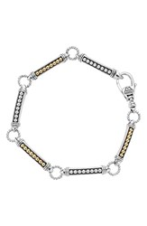 Lagos Women's Caviar 'Superfine' Two Tone Line Bracelet