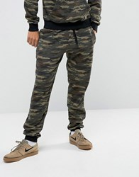 Antioch Skinny Fit Camo Joggers Green