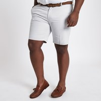 River Island Big And Tall Beige Belted Chino Shorts