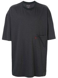 Martine Rose Relaxed Fit Striped T Shirt Grey