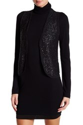 Zadig And Voltaire Sleeveless Sequin Wool Blend Vest Gray