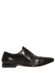 Cerbero Leather Oxford Lace Up Shoes Black