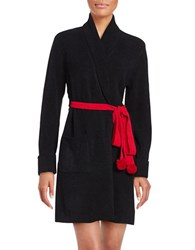 Betsey Johnson Sweater Robe Black