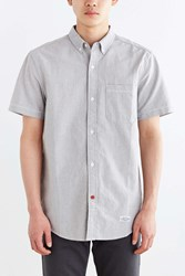 Cpo Left Coast Oxford Short Sleeve Button Down Shirt Grey