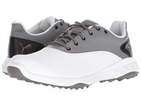 Puma Golf Grip Fusion White Quiet Shade Black Golf Shoes