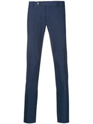 Entre Amis Skinny Tailored Trousers Blue