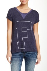 Rebel Yell F U X Boyfriend Tee Blue