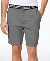 Club Room Men's Estate Flat Front Shorts Only At Macy's Shark
