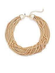 Natasha Lobster Clasp Strand Necklace Gold