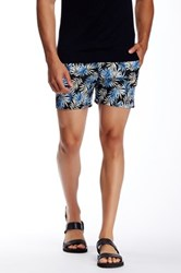Parke And Ronen Palm Print Short Blue