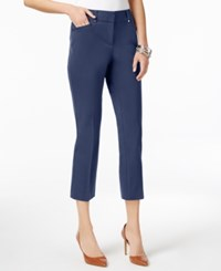 Alfani Cropped Skinny Pants Only At Macy's Navy Nautical