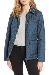 Bernardo Women's Reversible Insulated Quilted Jacket Pacific