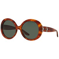 Ralph Lauren Rl8145b Gradient Round Sunglasses Light Havana