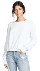 Lna Cinched Sweatshirt White