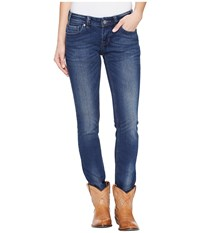 Rock And Roll Cowgirl Low Rise Skinny In Dark Vintage W0s1376 Dark Vintage Women's Jeans Navy