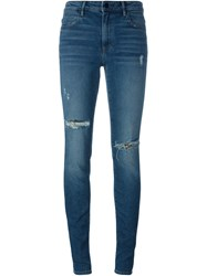 T By Alexander Wang Distressed Jeans Blue