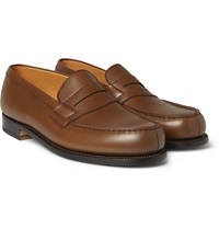 J.M. Weston 180 The Moccasin Grained Leather Loafers