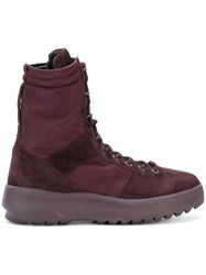 Yeezy Lace Up Military Boots Pink And Purple