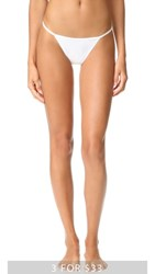 Calvin Klein Underwear Sleek String Bikini Panties White