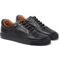 Harry's Of London Harrys Mr Jones 2 Perforated Leather Sneakers Black