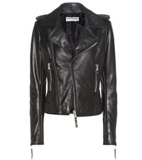 Balenciaga Exclusive To Mytheresa.Com Leather Biker Jacket Black