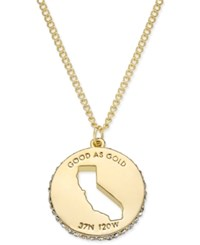 Kate Spade New York State Of Mind Gold Tone State Cutout Pendant Necklace California