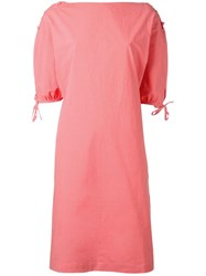 Tomas Maier Midi Dress Pink Purple
