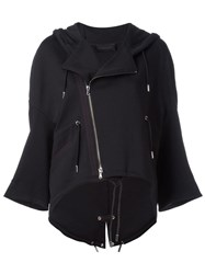 Diesel Black Gold Hooded Biker Jacket Black